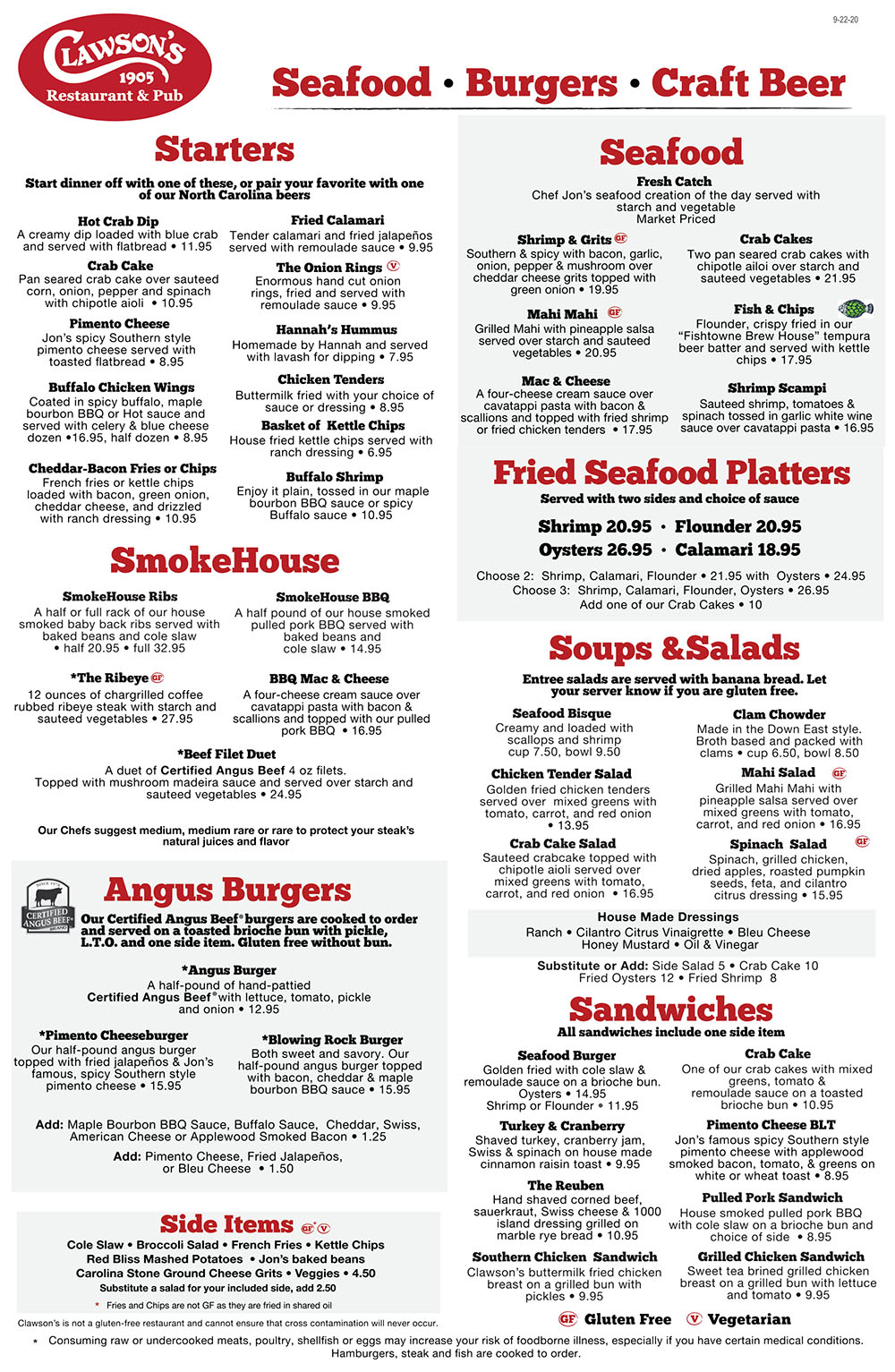 Claw 9-24-20 combined Menu-1