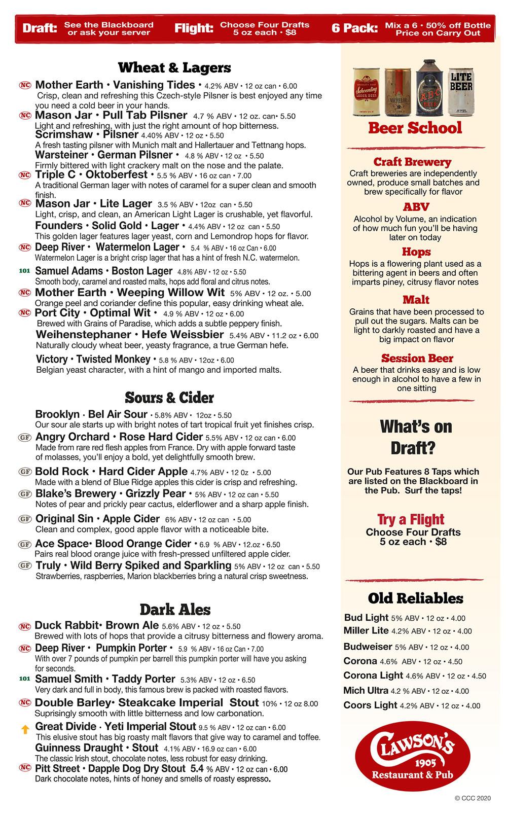 beer menu oct 2020-2