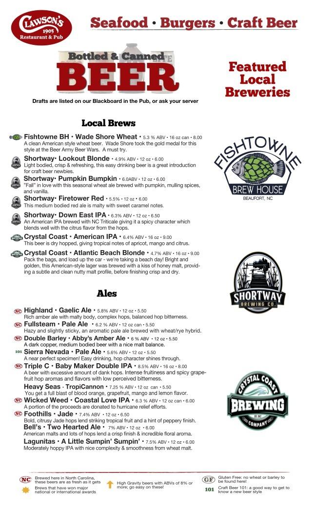 beer menu October 2021 logos